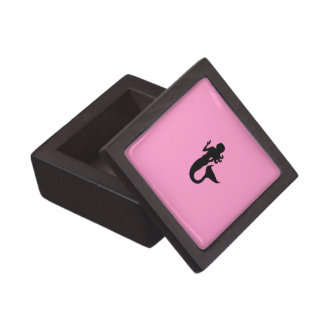 Ocean Glow_Black-on-Pink Mermaid Gift Box