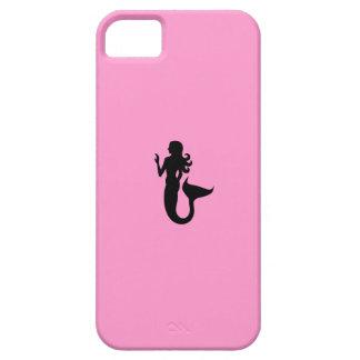 Ocean Glow_Black-on-Pink Mermaid iPhone SE/5/5s Case