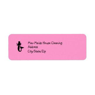 Ocean Glow_Black on Pink Mermaid Label