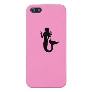Ocean Glow_Black-on-Pink Mermaid_personalized iPhone SE/5/5s Cover