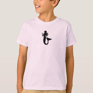 Ocean Glow_Black-on-Pink Mermaid T-Shirt