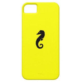 Ocean Glow_Black-on-Yellow Seahorse iPhone SE/5/5s Case