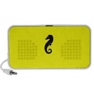 Ocean Glow_Black-on-Yellow Seahorse Speaker