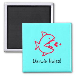 Ocean Glow_Darwin Rules! 2 Inch Square Magnet
