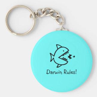 Ocean Glow_Darwin Rules Keychain