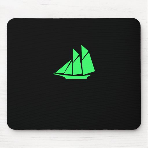 Ocean Glow_green Clipper Mouse Pad