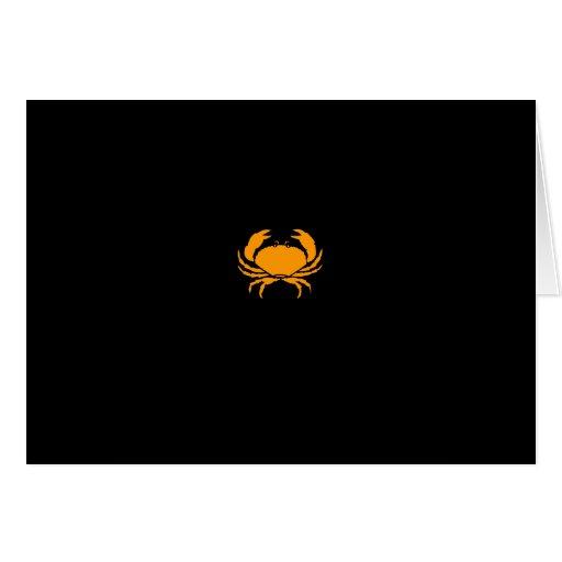 Ocean Glow_Orange Crab Greeting Card