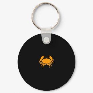 Ocean Glow_Orange Crab keychain