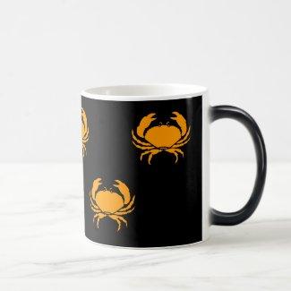 Ocean Glow_Orange Crab morphing mug