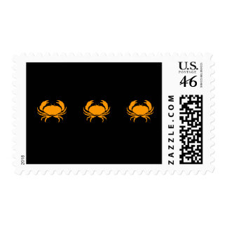 Ocean Glow_Orange Crab postage