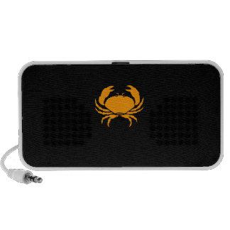 Ocean Glow_Orange-on-Black Crab custom Speaker