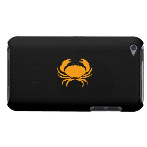 Ocean Glow_Orange on Black Crab iPod Touch Cover