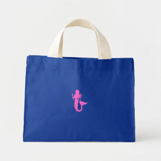 Ocean Glow_Pink Mermaid canvas Mini Tote Bag