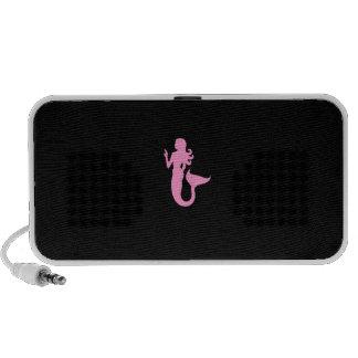 Ocean Glow_Pink-on-Black Mermaid custom Speaker