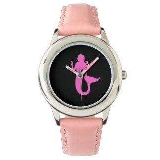 Ocean Glow_Pink-on-Black Mermaid Watches