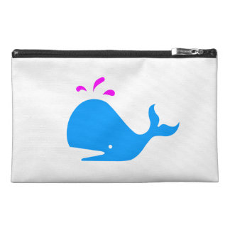 Ocean Glow_Spouty Whale Bright Blue,Magenta Travel Accessories Bag