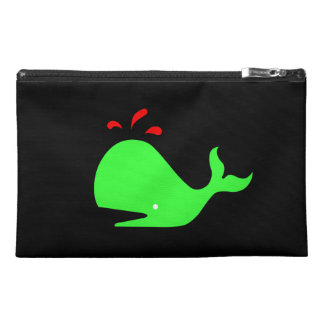 Ocean Glow_Spouty Whale Bright Green,Red Travel Accessories Bags