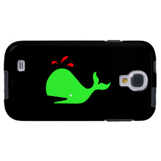 Ocean Glow_Spouty Whale Bright Green,Red Galaxy S4 Case