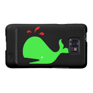 Ocean Glow_Spouty Whale Bright Green,Red Samsung Galaxy S2 Cover