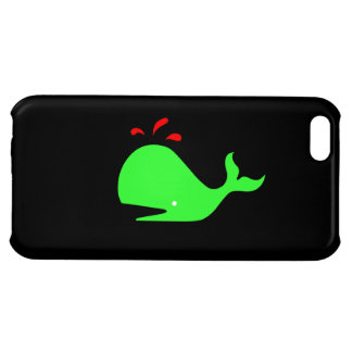 Ocean Glow_Spouty Whale Bright Green,Red iPhone 5C Cover