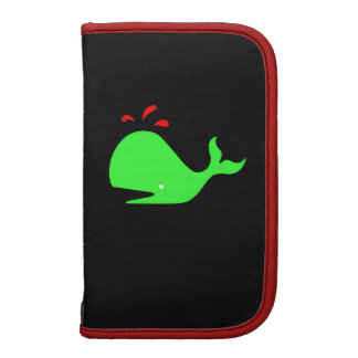 Ocean Glow_Spouty Whale Bright Green,Red Organizer