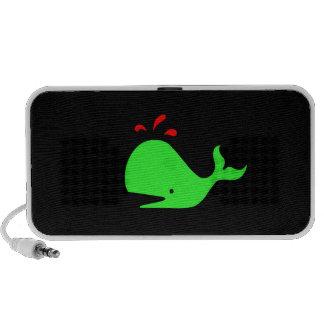 Ocean Glow_Spouty Whale Bright Green,Red_Speaker iPhone Speakers