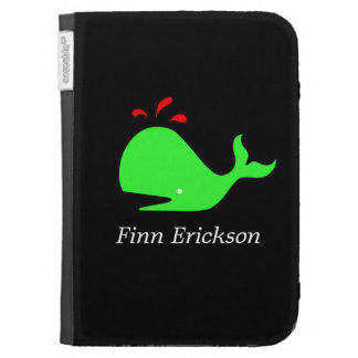 Ocean Glow_Spouty Whale_personalized Kindle 3G Case