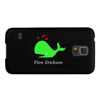 Ocean Glow_Spouty Whale_personalized Galaxy S5 Covers