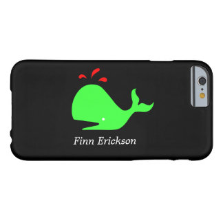 Ocean Glow_Spouty Whale_personalized Barely There iPhone 6 Case