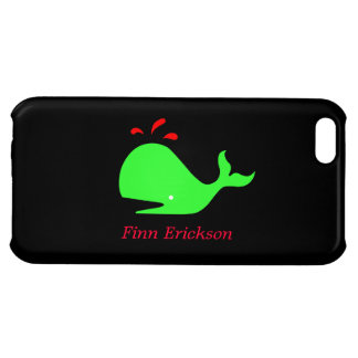 Ocean Glow_Spouty Whale_personalized iPhone 5C Cover