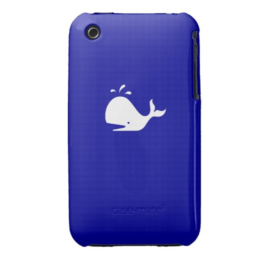 Ocean Glow_White-on-Blue iPhone 3G/3GS Case-Mate