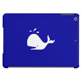 Ocean Glow_White-on-Blue Whale iPad Air Cover