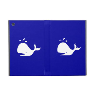 Ocean Glow_White-on-Blue Whale Case For iPad Mini