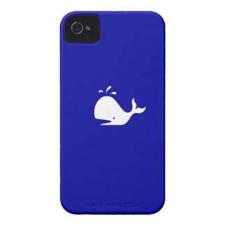 Ocean Glow_White-on-Blue Whale iPhone 4 Case-Mate iPhone 4 Case-Mate Cases
