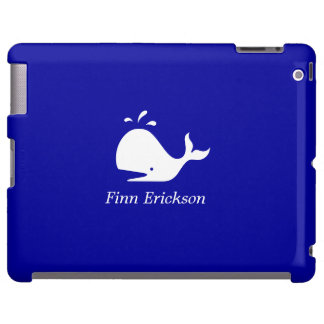 Ocean Glow_White-on-Blue Whale_personalized