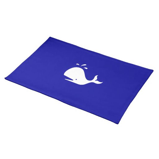 Ocean Glow_White-on-Blue Whale Placemat