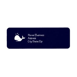 Ocean Glow_White Whale Custom Return Address Labels