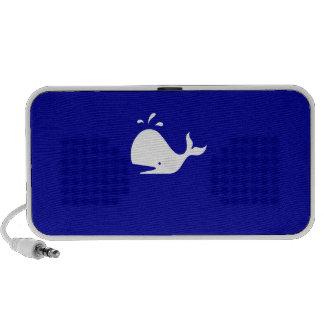 Ocean Glow_White Whale on Blue_custom Speaker