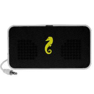 Ocean Glow_Yellow-on-Black Seahorse Speaker