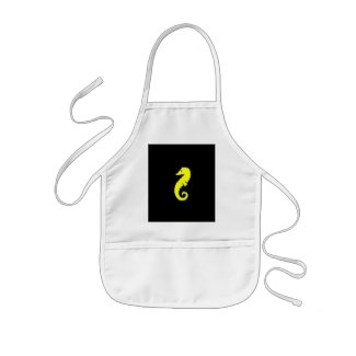 Ocean Glow_Yellow Seahorse apron