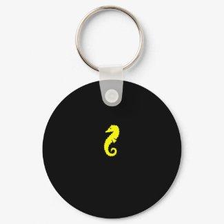 Ocean Glow_Yellow Seahorse keychain