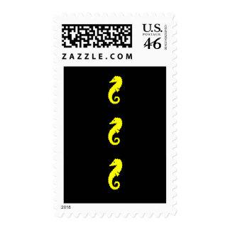Ocean Glow_Yellow Seahorse postage