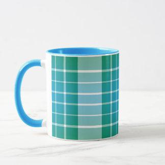 Ocean Grid Plaid Mug