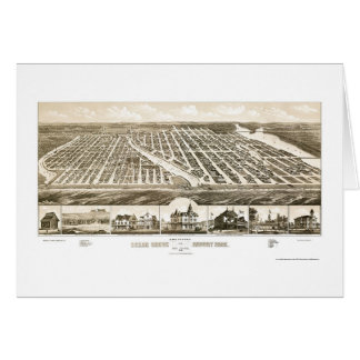 Ocean Grove & Asbury Park, NJ Panoramic Map - 1881 Card