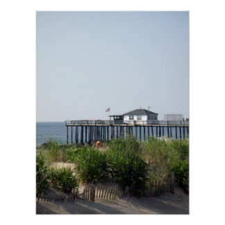 Ocean Grove NJ Beach Poster
