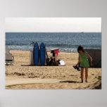 Ocean Grove NJ beach surf boards Print