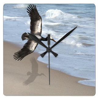 Ocean gull art clock