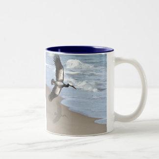 Ocean gull art mug