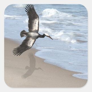 Ocean gull art stickers