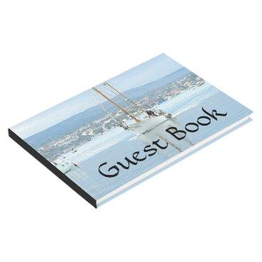 Ocean Harbor Sailboat Sailing Dawn Guest Book